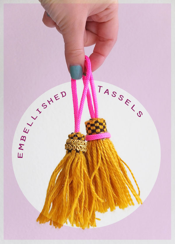 Make an Embellished Tassel in only a few minutes -DIY on mypoppet.com.au