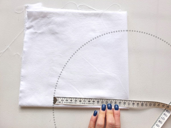 mark diameter on fabric
