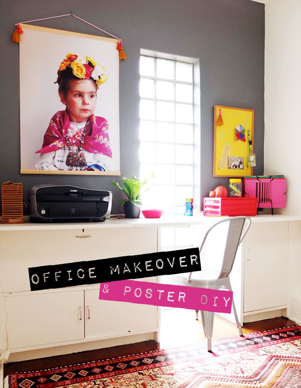 Home office makeover and desk styling