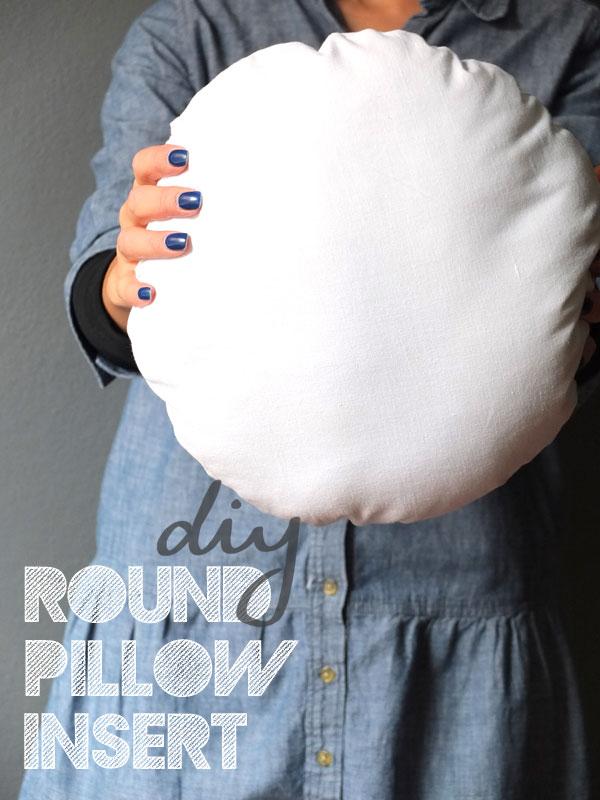 DIY Round Pillow Insert & DIY Round Pillow Insert | My Poppet Makes pillowsntoast.com