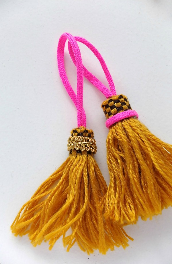 Tassel diy with vintage fringe and trim