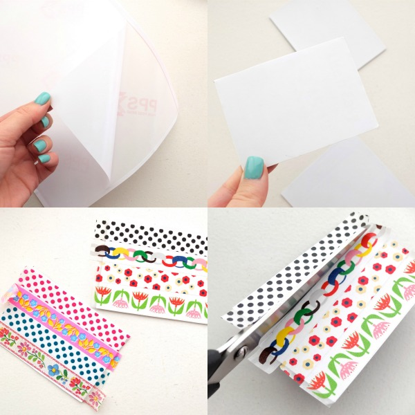 How to make washi tape magnets upcycle