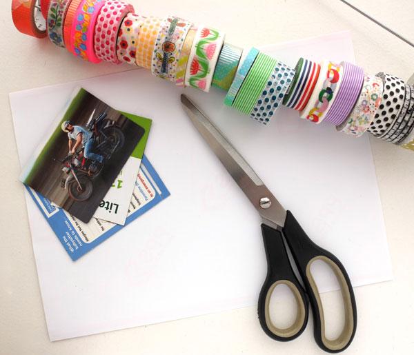 Washi tape magnet supplies Diy