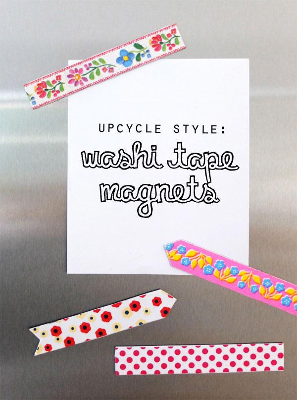 Washi Tape magnet Upcycle DIY mypoppet.com.au
