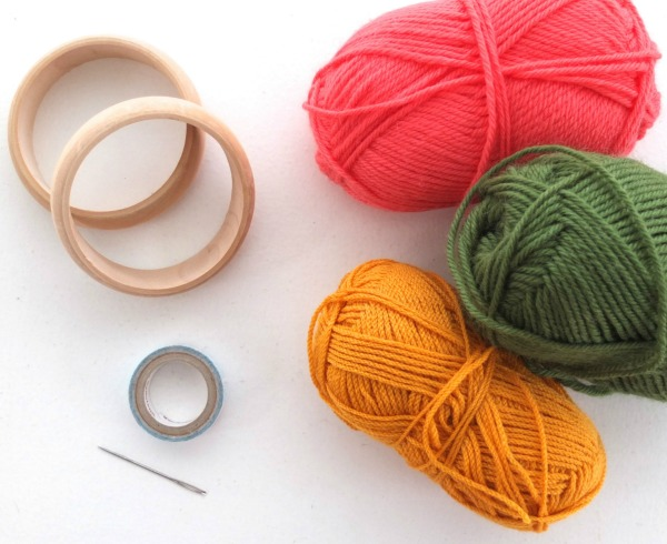 How to make woven yarn bangles - supplies mypoppet.com.au