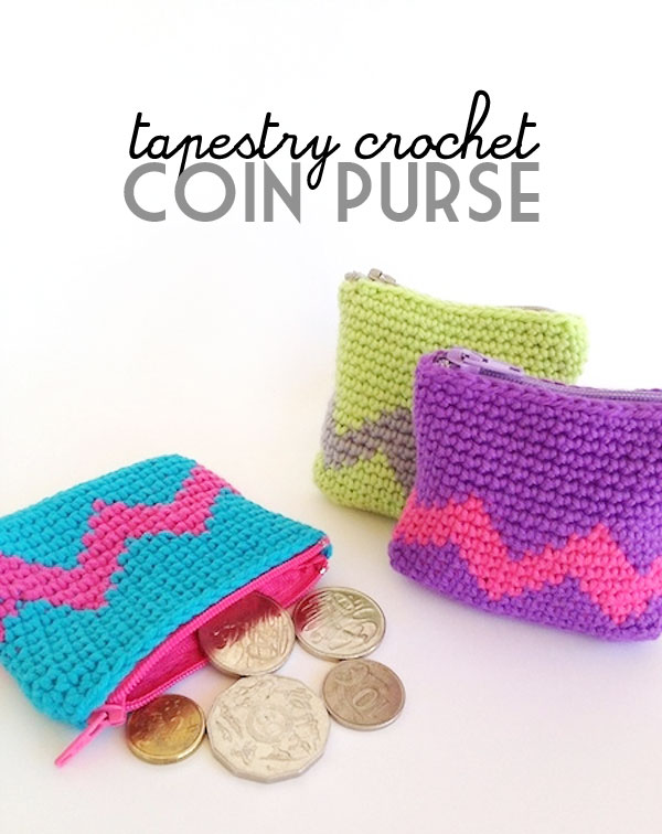 Tapestry Crochet Coin Purse My Poppet Makes