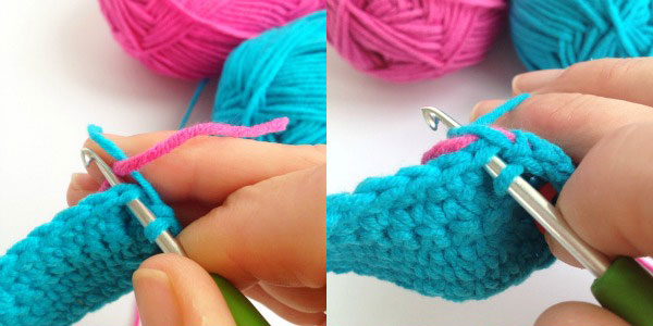 change colour crochet