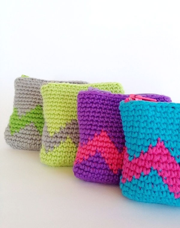 How To Make Crochet Purse : Tapestry Crochet Coin Purse - My Poppet Makes