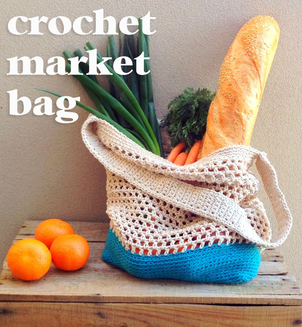 Crochet Pouch : DIY Crochet Market Bag Pattern - My Poppet Makes