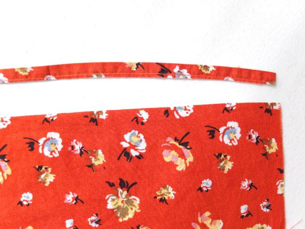make straps from hem