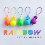 DIY Rainbow Stitch Markers for Knitting