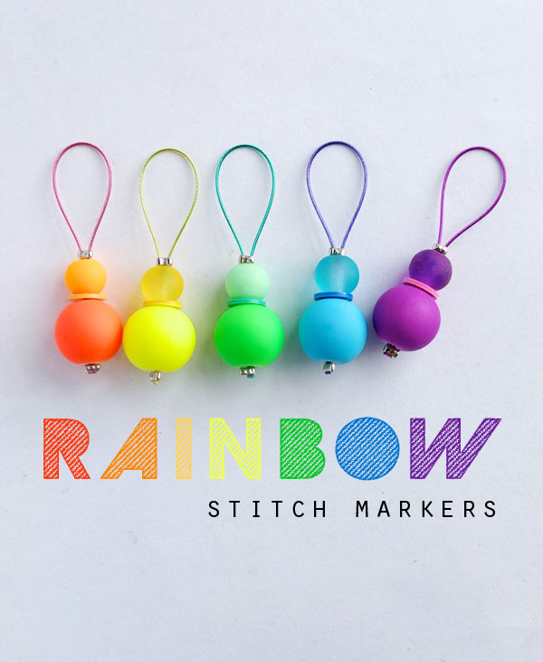 DiY knitting rainbow stitch markers mypoppet.com.au