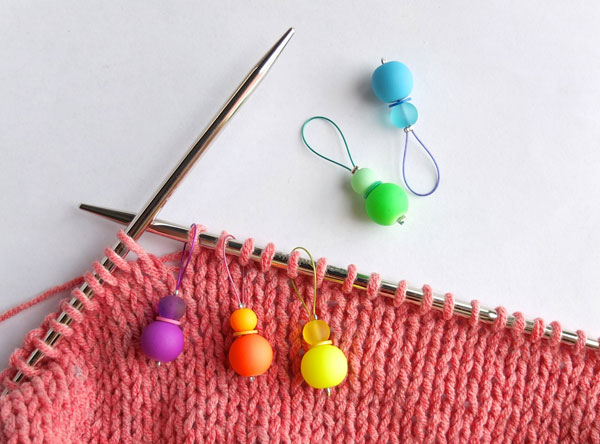 Decorative Knitting Stitch Markers : DIY Rainbow Stitch Markers for Knitting - My Poppet Makes