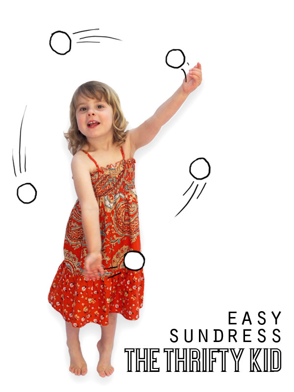 refashion an old skirt into a sundress
