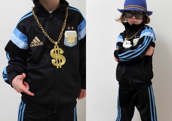 Kids dress up halloween costume idea old skool b-boy mypoppet.com.au