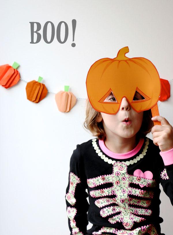 Boo pumpkin head halloween mask