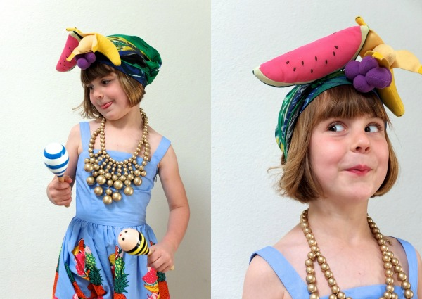 Carmen miranda kids costume dress up Halloween mypoppet.com.au