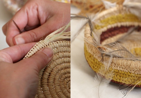coil basket weaving