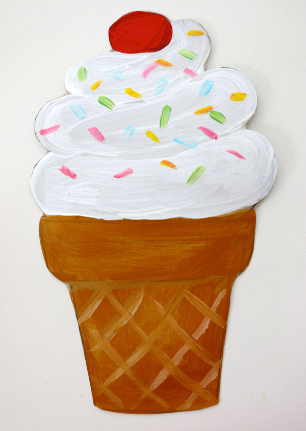 painted ice cream cone