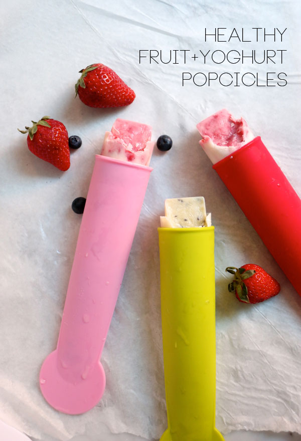 Healthy fruit and yoghurt popcicles