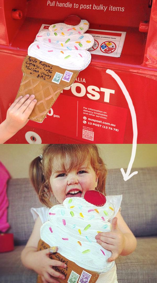 post a giant ice cream cone