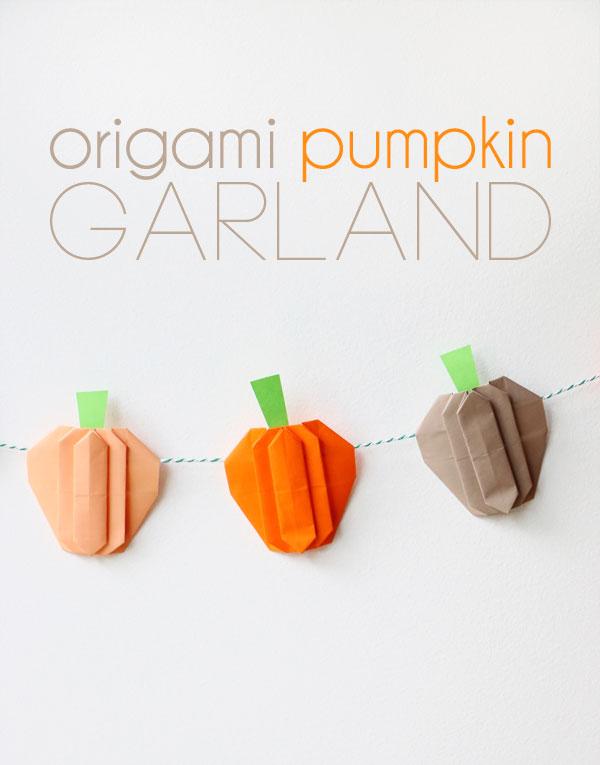 Origami Pumpkin Garland My Poppet Makes