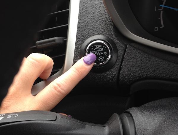ford eco spor start button