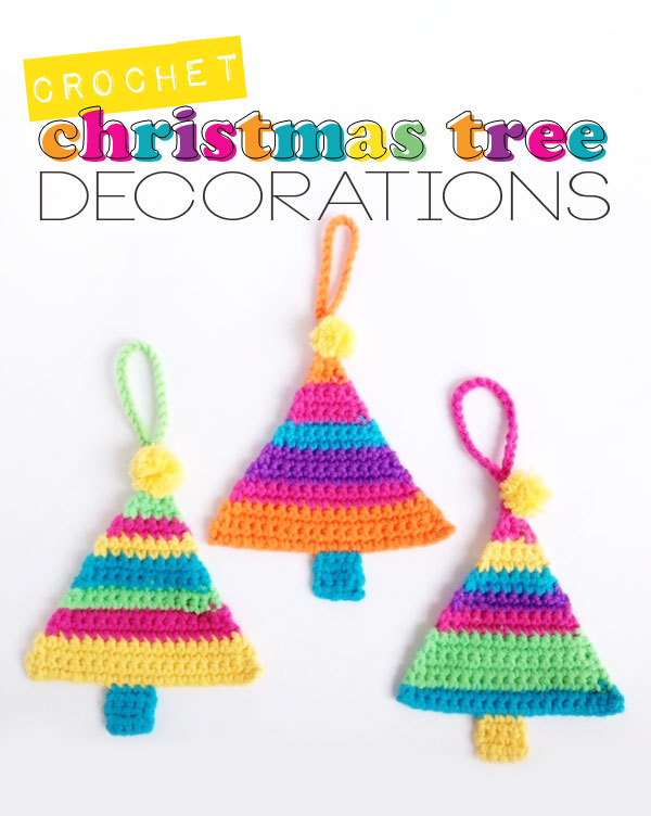 Crochet Christmas Tree Ornaments mypoppet.com.au