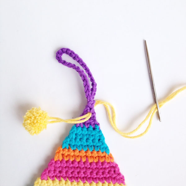 Make crochet striped christmas tree decorations mypoppet.com.au