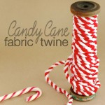 How to make: Candy Cane Fabric Twine