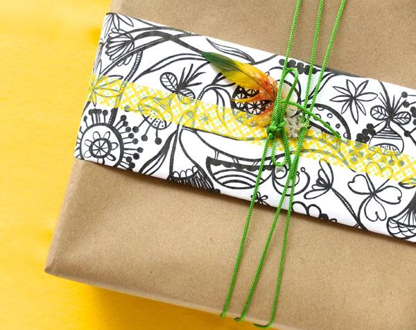 Madeleine stamer The Lucky draw project christmas special printable as giftwrap