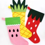 DIY Fruity Christmas Stockings with Free Pattern