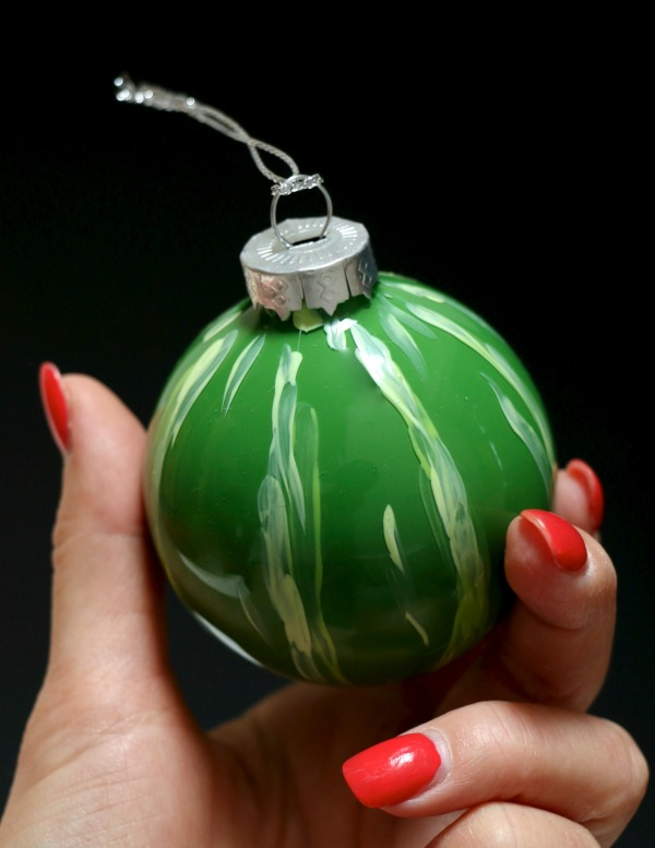 Diy glass melon christmas ball ornament mypoppet.com.au