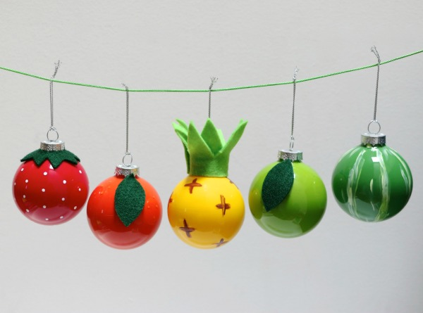 DIY fruit christmas bauble decorations mypoppet.com.au