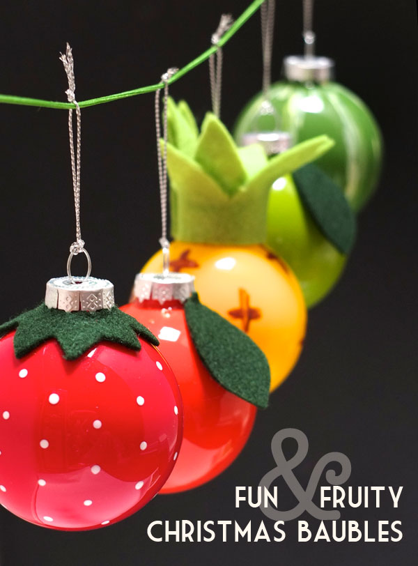 DIY fruit christmas baubles