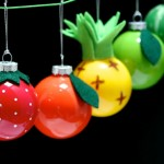 Fun & Fruity Christmas Bauble Ornaments