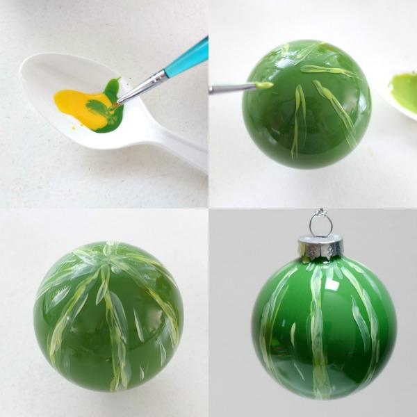 Make a strawberry christmas bauble mypoppet.com.au