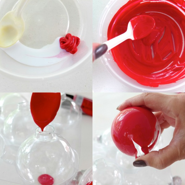 How to paint glass Christmas baubles