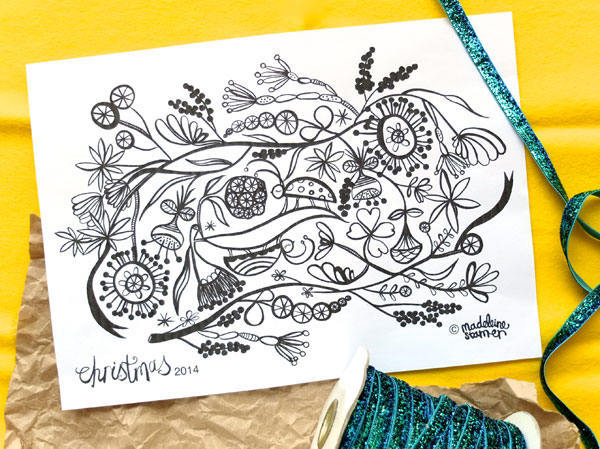 The Lucky Draw Project Christmas Special Colouring page