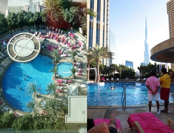 Roof top pool shangri-la hotel Dubai