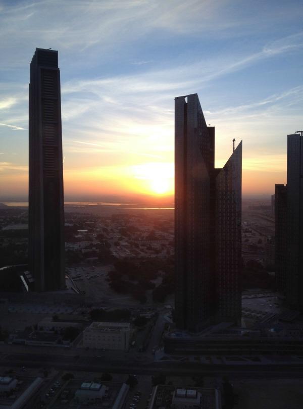 Sunrise views from Shangri-la hotel dubai