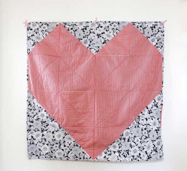geometric heart quilt