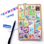 stamp decorated note book