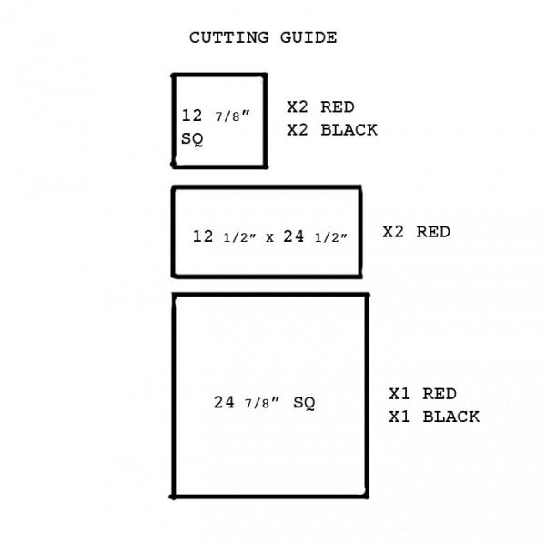 heart quilt pattern cutting guide